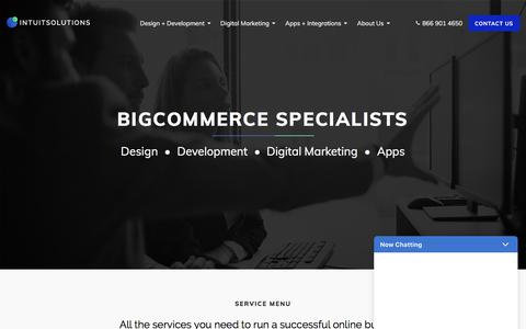 Screenshot of Home Page intuitsolutions.net - IntuitSolutions | BigCommerce Experts | Digital Agency - captured Sept. 19, 2018