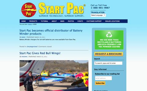 Screenshot of Press Page startpac.com - NEWS | Start Pac - captured Sept. 30, 2014
