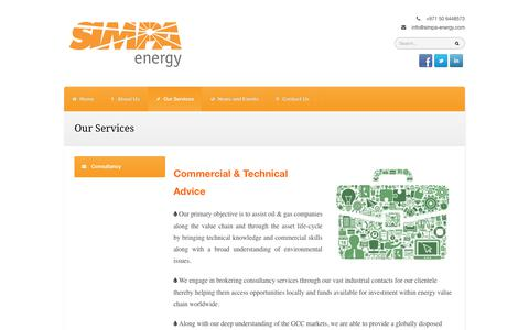 Screenshot of Services Page simpa-energy.com - Our Services | SIMPA Energy - captured Sept. 30, 2017