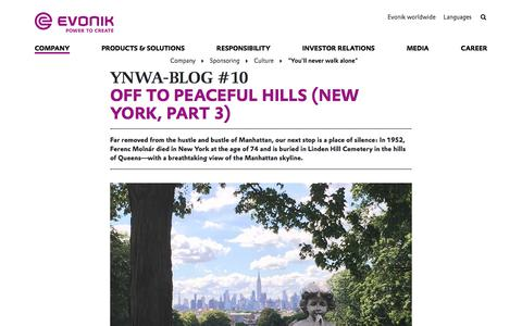 #EvonikYNWA in New York - Linden Hill - Evonik Industries AG