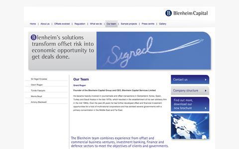 Screenshot of Team Page blenheimcapital.net - Blenheim Capital Partners - captured Oct. 5, 2014