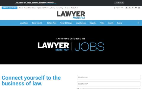 Screenshot of Signup Page lawyer-monthly.com - Register – Lawyer Monthly | Legal News Magazine - captured July 17, 2018
