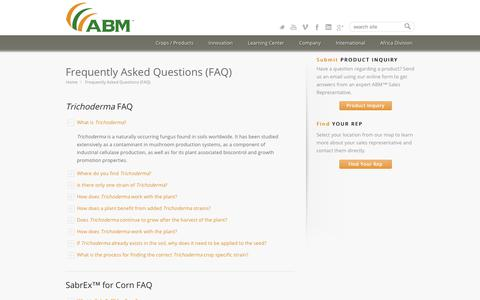 Screenshot of FAQ Page abm1st.com - ABM 1st |   Frequently Asked Questions (FAQ) - captured Oct. 7, 2017