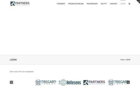 Screenshot of Login Page ttpartners.dk - LOGIN | TTpartners - captured Feb. 26, 2016