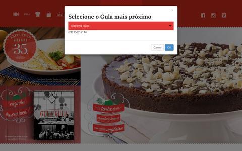 Screenshot of Home Page gulagula.com.br - Gula Gula Restaurante - - captured Dec. 15, 2015
