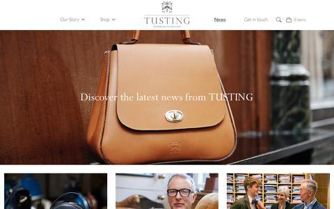 Screenshot of Press Page tusting.co.uk - News - Tusting - captured Nov. 16, 2018