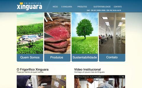 Screenshot of Home Page frigorificoxinguara.com.br - frigorifico-xinguara - captured Feb. 13, 2016