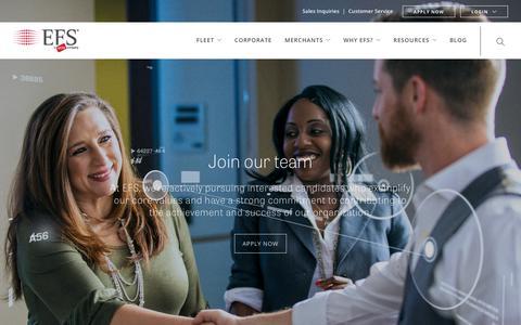 Screenshot of Jobs Page efsllc.com - Careers - EFS - captured June 25, 2017