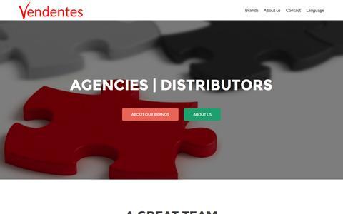 Screenshot of Home Page vendentes.com - Vendentes - agencies | exclusive distributors | e-commerce - captured Feb. 14, 2016