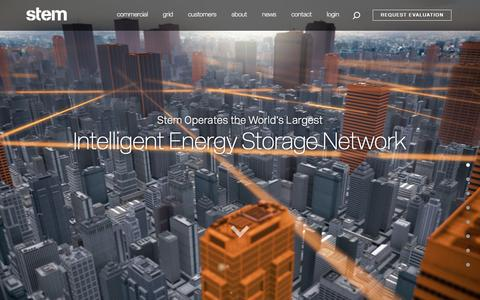 Stem | Intelligent energy storage and predictive energy software