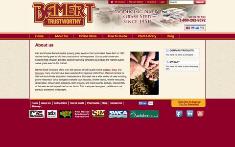 Screenshot of About Page bamertseed.com - About Us - captured Oct. 5, 2014