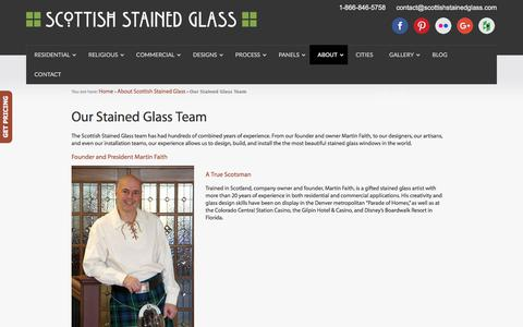 Screenshot of Team Page scottishstainedglass.com - Meet Our Team | Scottish Stained Glass | Custom Studio - captured Sept. 20, 2018