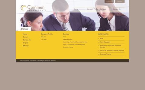 Screenshot of Site Map Page coinmen.in - Coinmen - captured Oct. 3, 2014