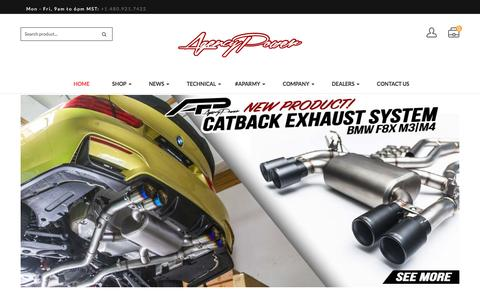 Screenshot of Home Page agency-power.com - Agency Power – Manufacture of High Performance Auto Products - captured May 29, 2017