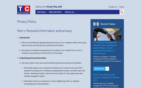 TC Facilities Management  » Privacy Policy