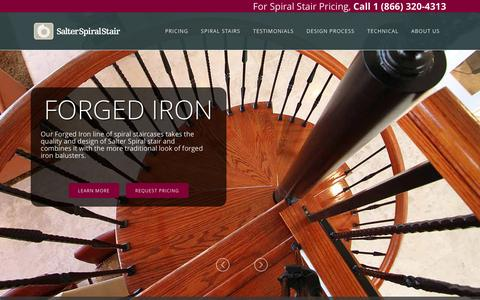 Screenshot of Home Page salterspiralstair.com - Salter Spiral Stair - Spiral Staircase Prices Starting at $550 - captured Dec. 21, 2015