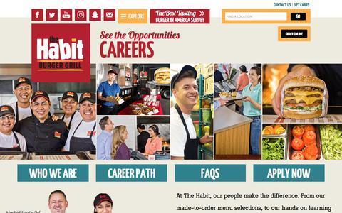 Screenshot of Jobs Page habitburger.com - Careers   Habit Burger - captured Sept. 24, 2018
