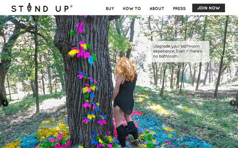 Screenshot of Home Page the-stand-up.com - Stand Up and Join the Urination - captured Nov. 21, 2015