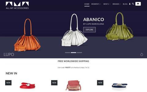 Screenshot of Home Page allmyaccessories.co.uk - All My Accessories | Lupo Barcelona, Antonio Ben Chimol, Hoops Watches - captured Oct. 4, 2014