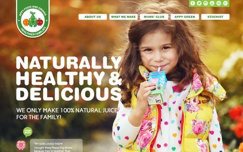 Screenshot of Home Page appyco.com - Appy Food & Drinks - Home - captured Sept. 10, 2015