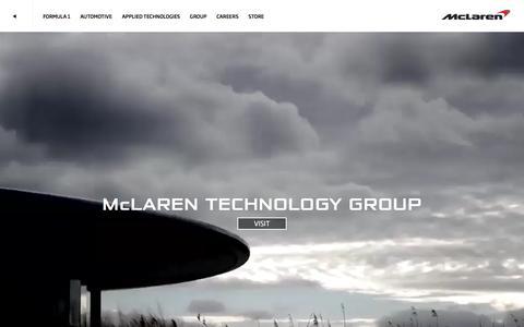 Screenshot of Home Page mclaren.com - The Official McLaren Website – McLaren.com - captured Jan. 14, 2016