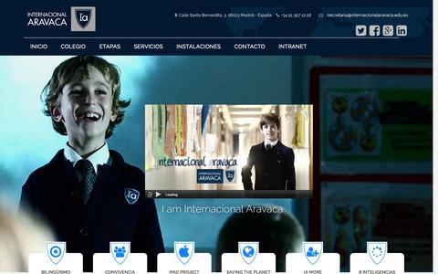 Screenshot of Home Page internacionalaravaca.edu.es - Colegio Internacional Aravaca - España - captured Sept. 14, 2015