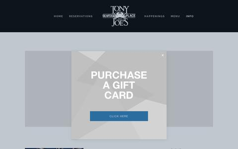 Screenshot of About Page tonyandjoes.com - About — Tony and Joes - captured May 29, 2019