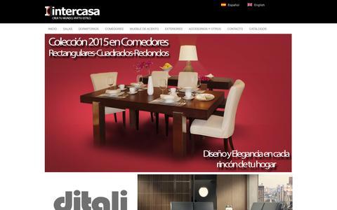 Screenshot of Home Page intercasacr.com - Somos una mueblería en Costa Rica dedicada al diseño de espacios. - captured Feb. 11, 2016