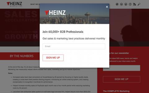 Screenshot of Case Studies Page Testimonials Page heinzmarketing.com - Results - Heinz Marketing - captured Jan. 15, 2016