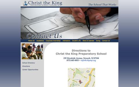 Screenshot of Maps & Directions Page ctkprep.org - Directions - Christ the King Prep, Newark's Cristo Rey School - captured Oct. 2, 2014