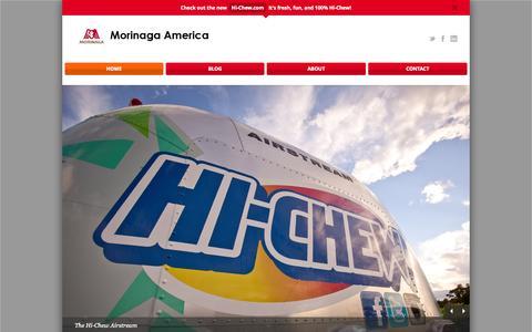 Screenshot of Home Page morinaga-america.com - Morinaga America - captured Sept. 30, 2014