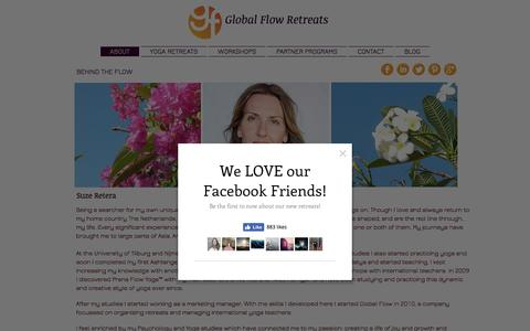 Screenshot of About Page globalflow.org - Global Flow Retreats | About - captured July 14, 2016
