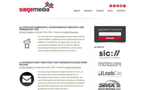 Siege Media's Blog on Content Marketing