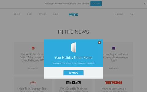 Screenshot of Press Page wink.com - Wink | Press - captured Nov. 28, 2016