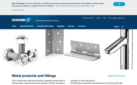 Metal products and fittings