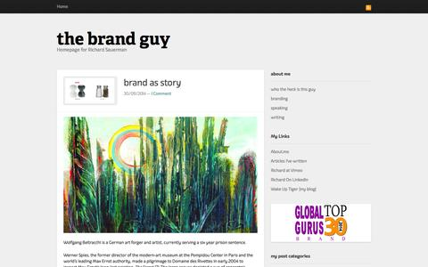 Screenshot of Home Page the-brand-guy.com - the brand guy - captured Oct. 1, 2014