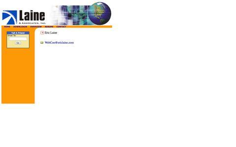 Screenshot of Contact Page ericlaine.com - contact - captured Oct. 1, 2014
