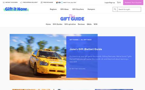 Screenshot of Blog giftitnow.com.au - Gift It Now Blog - Guides, Ideas & Inspiration | Gift It Now - captured July 18, 2018