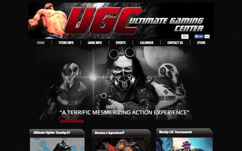 Screenshot of Home Page ugcgamer.com - UGC - captured Oct. 6, 2014