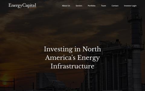 Screenshot of Home Page ecpartners.com - Home | Energy Capital Partners - captured Sept. 28, 2018