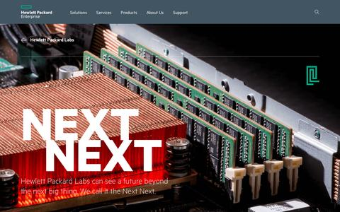 Hewlett Packard Labs | Next Next