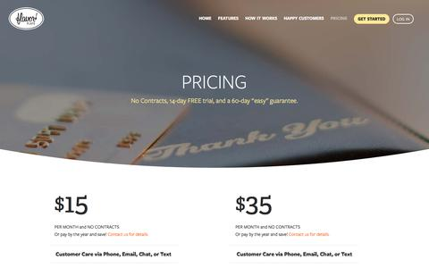 Screenshot of Pricing Page flavorplate.com - Quick, Easy, and Affordable Restaurant Website Design Solution - captured Aug. 15, 2018