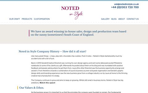 Screenshot of About Page notedinstyle.co.uk - About Us | Noted in Style - captured Sept. 19, 2018