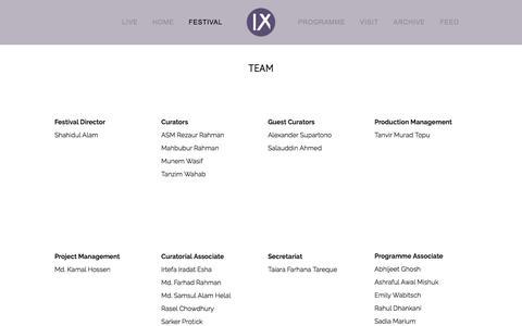 Screenshot of Team Page chobimela.org - Team — IX - captured Jan. 9, 2018