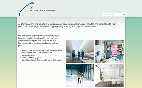 Screenshot of Home Page atworklearning.com - At Work Learning   Calgary - captured July 31, 2018