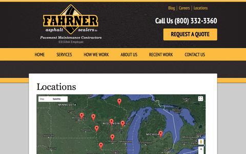 Screenshot of Locations Page fahrnerasphalt.com - Locations - Fahrner Asphalt Sealers LLC - captured Oct. 13, 2017