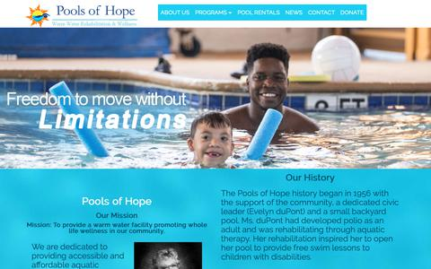 Screenshot of About Page caaquatictherapy.com - Long Beach California Aquatic Therapy and Wellness Center California Pools of Hope charity - captured Oct. 21, 2018