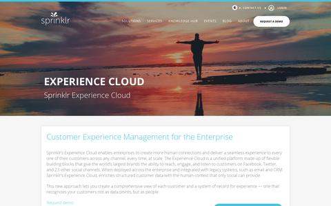 Customer Experience Management: Sprinklr's Experience Cloud