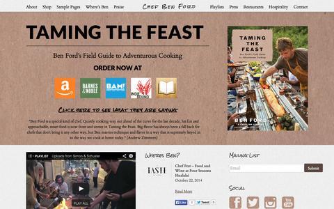 Screenshot of Home Page fordsfillingstation.net - Home | Chef Ben Ford - captured Sept. 30, 2014