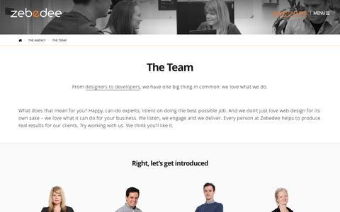Screenshot of Team Page zebedeecreations.com - The Team | Our Agency's Talented Web Design & Development Team - captured Nov. 28, 2016